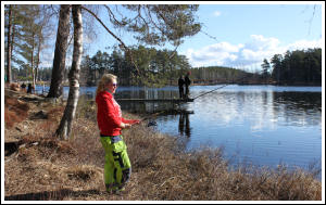 Fishing at lake Kroksjön